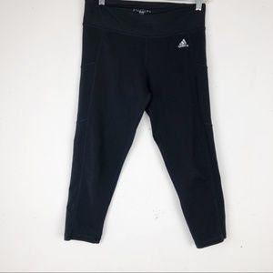 Adidas Black Capri Yoga Pants